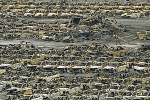 Катастрофа в Киетае после взрыва 7