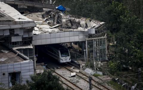 Катастрофа в Киетае после взрыва 9