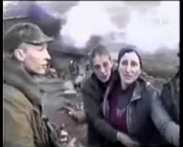 Российские солдаты расстреливают чеченскую семью 1999 год (ВИДЕО) 18+